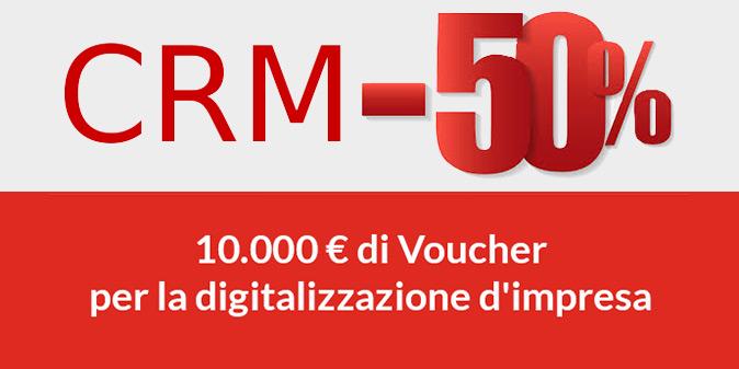 CRM -50% con i Voucher per la Digitalizzazione 2017
