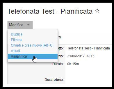 Telefonata Test - Pianificata