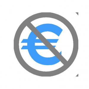 Risultati immagini per no euro